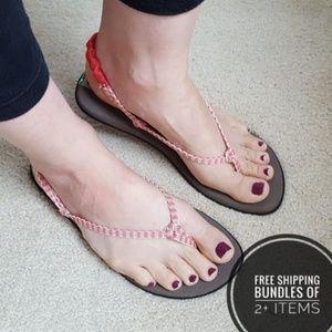 Sanuk Yoga Mat Thong Sandals Size 8